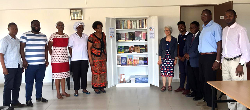 A Bookshop in a Filing Cabinet! Mini-CLC launched in Matola!