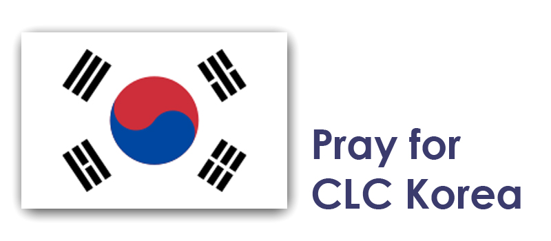 Thursday - Pray for CLC Korea