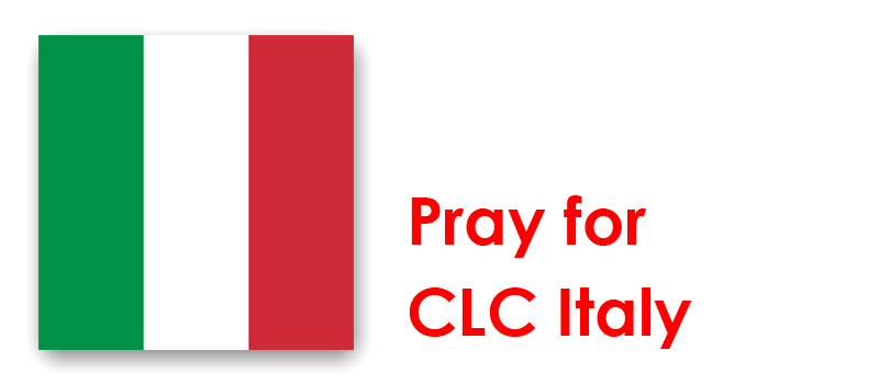 Wednesday 30th - Pray for CLC Italy: